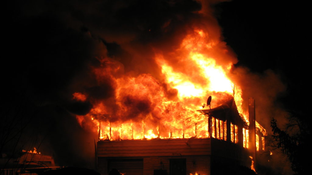 in caso di incendio