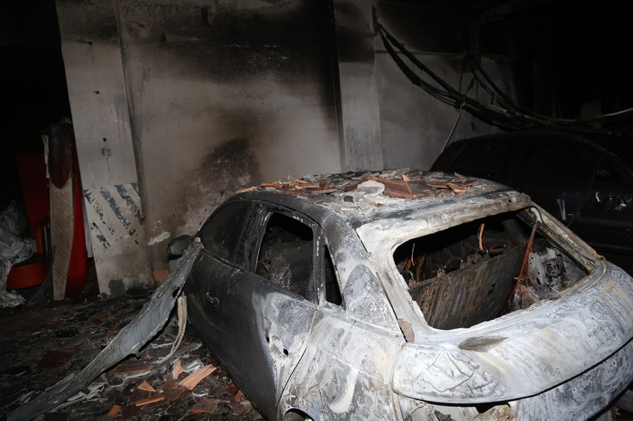 Incendio in garage