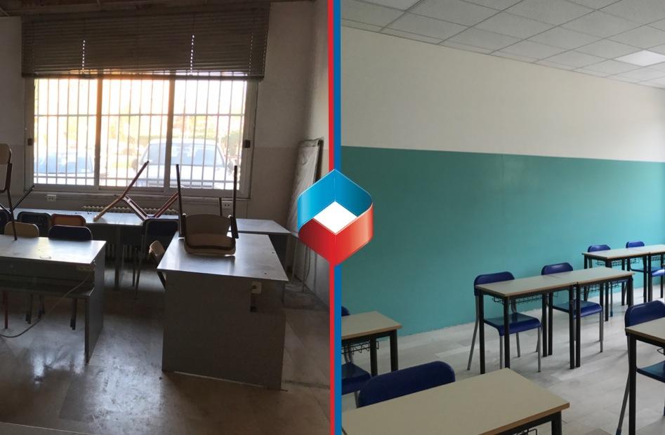 Bonifica post incendio Liceo scientifico Lodi